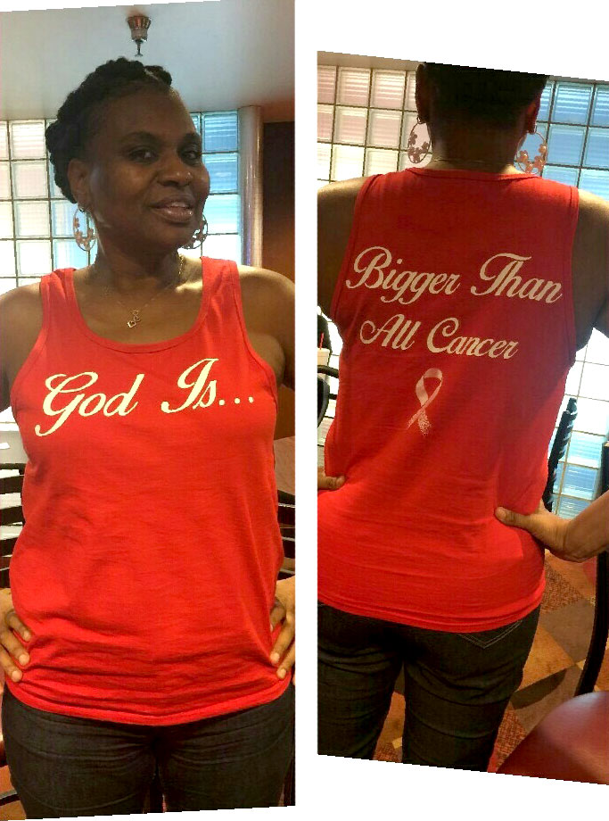 God is Bigger Than All Cancer - Red Tanktop