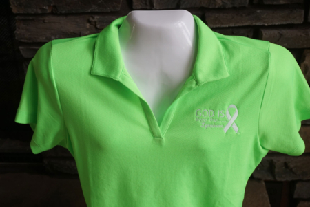 Women's Lymphoma Green Polo